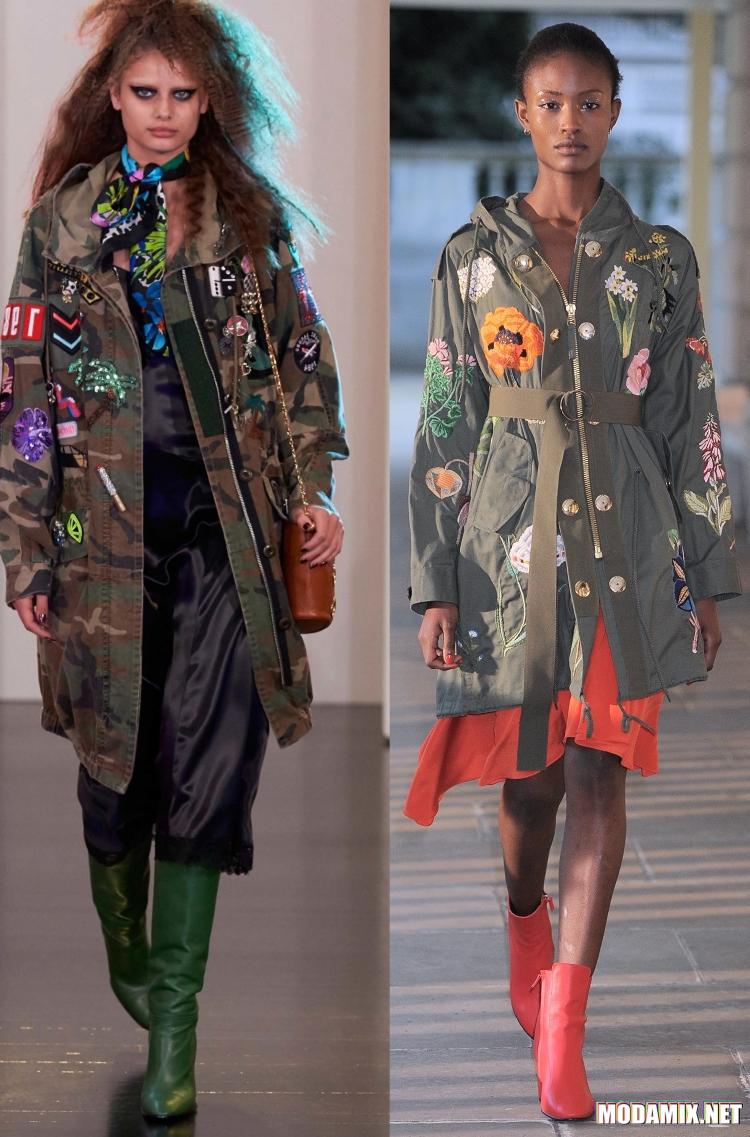Одежда в стиле милитари 2017