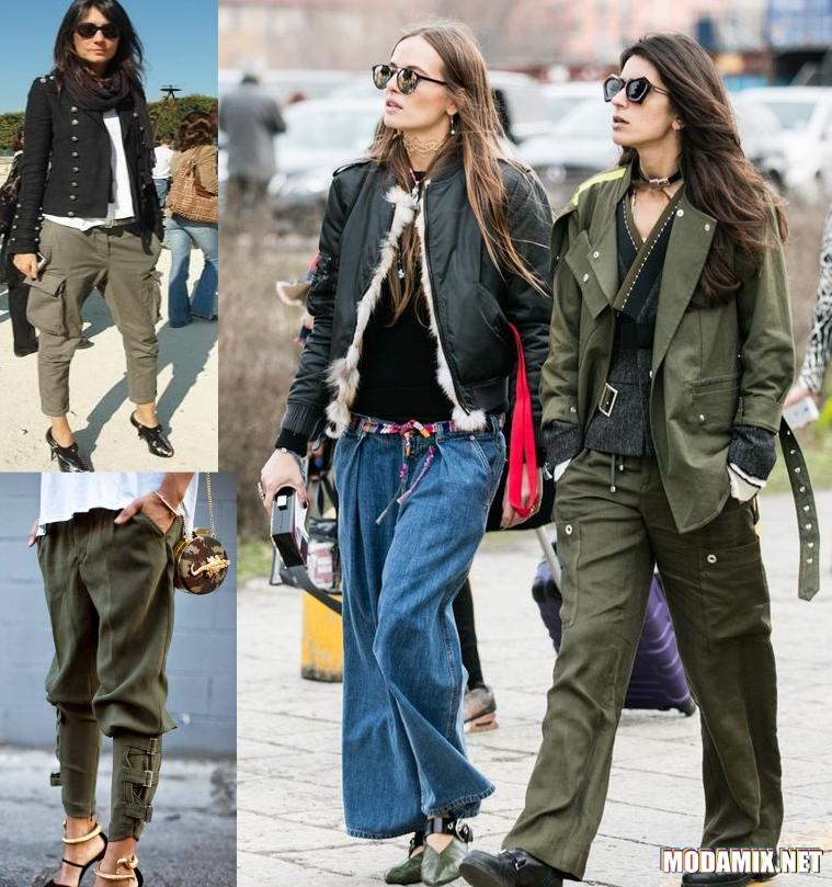 Уличная мода в стиле милитари 2017