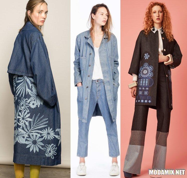 Джинсовые женские пальто на весну 2017