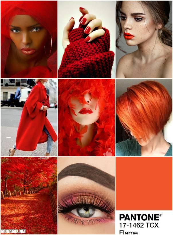 Модные красные оттенки 2017 года