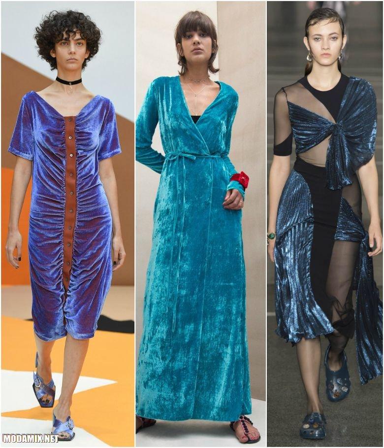 Фото бархатных платьев