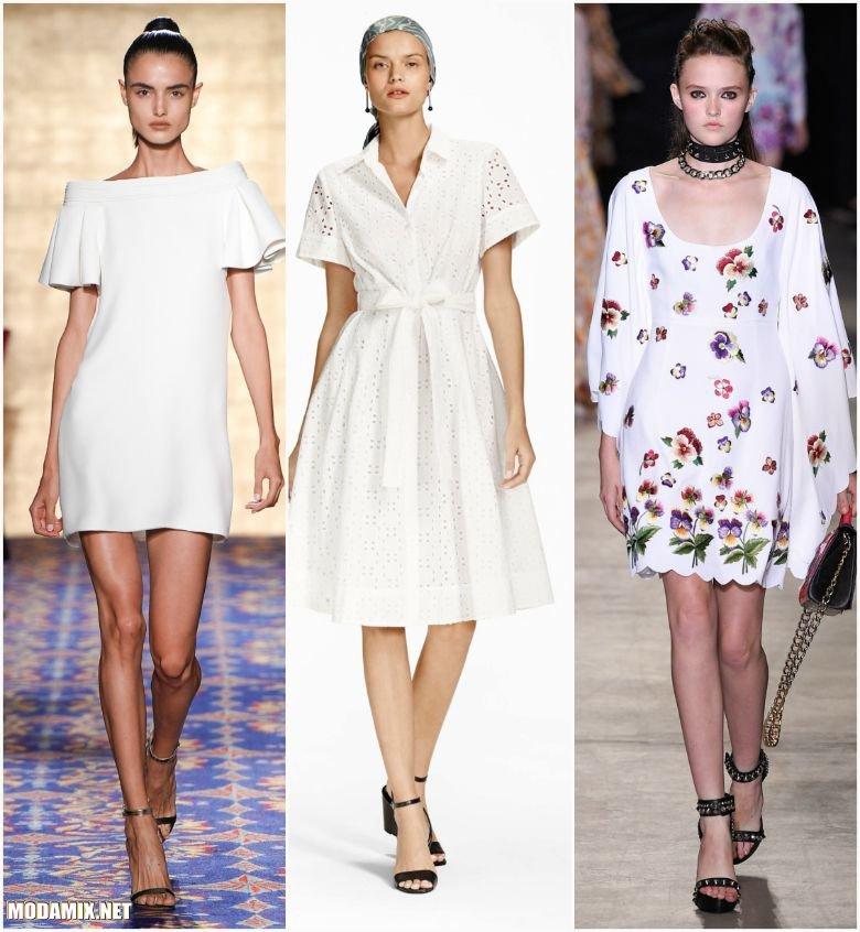 Фото весенне-летних платьев белого цвета