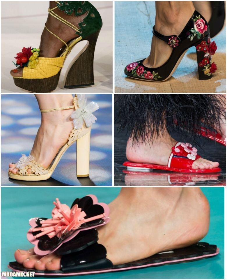 Фото цветочного декора на обуви