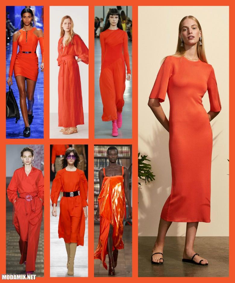 Женская одежда оттенка Flame