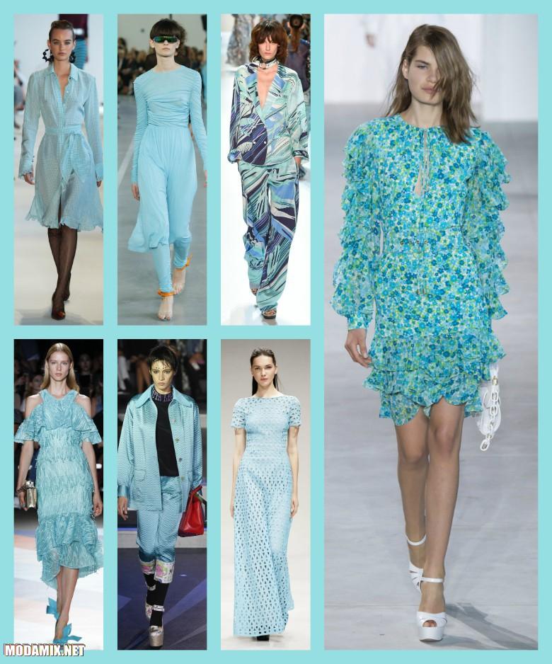 Голубой цвет одежды в 2017 году