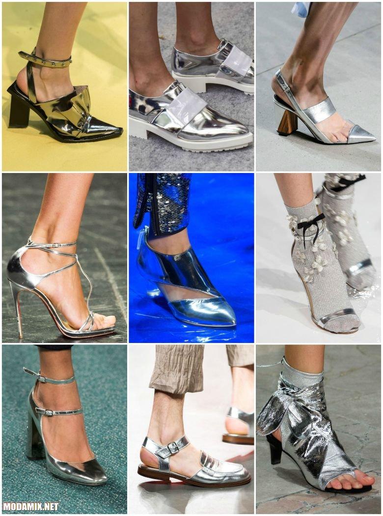 Обувь оттенка хром - весна лето 2017