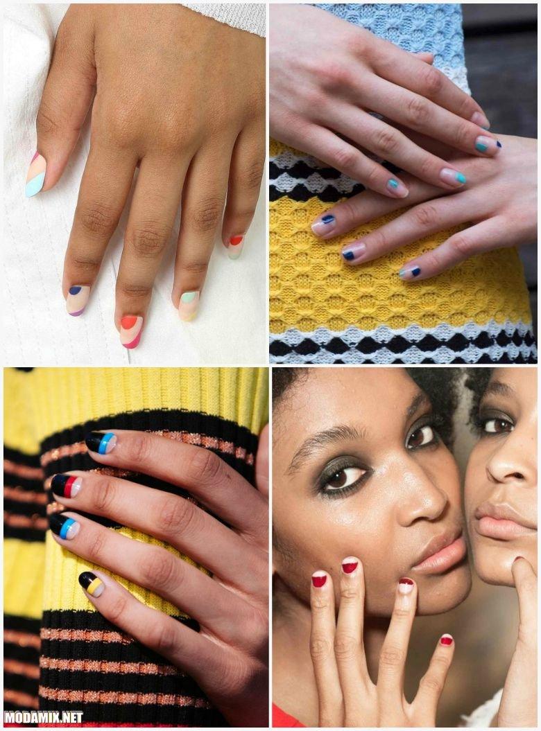 Колорблокинг на ногтях
