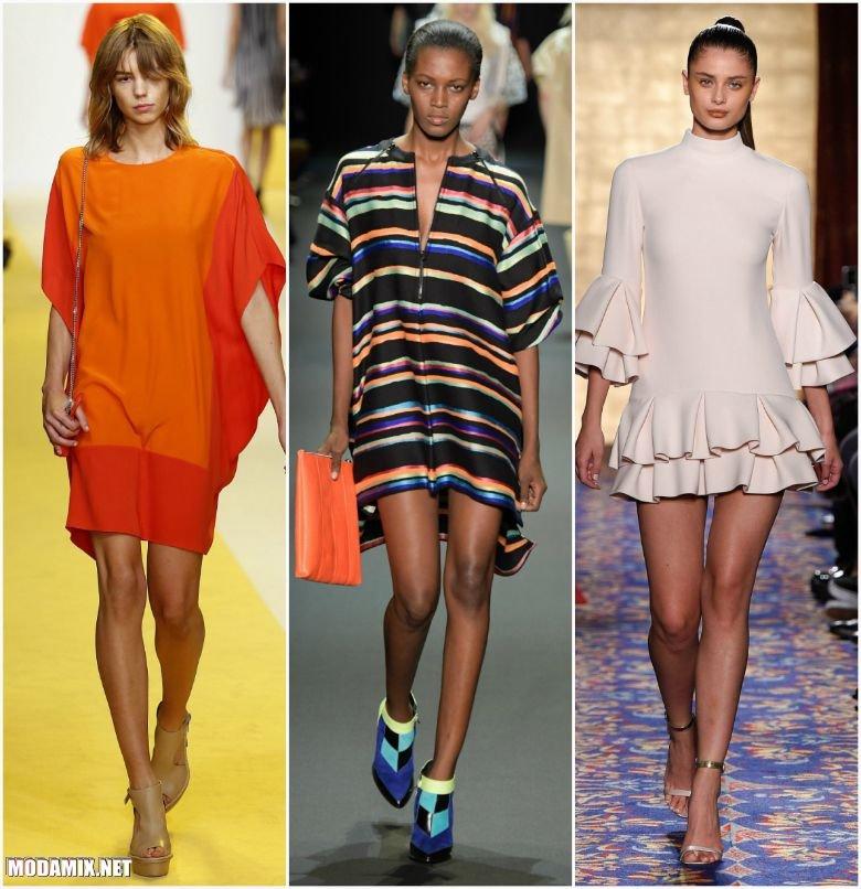 Весенние платья выше колен