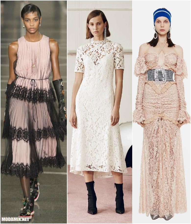 Модные платья из кружева