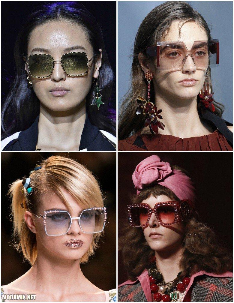Солнцезащитные очки с квадратной оправой
