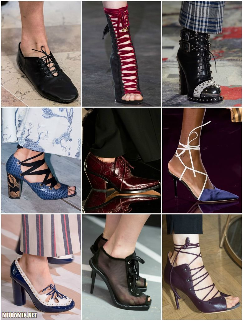 Обувь на шнуровке 2017