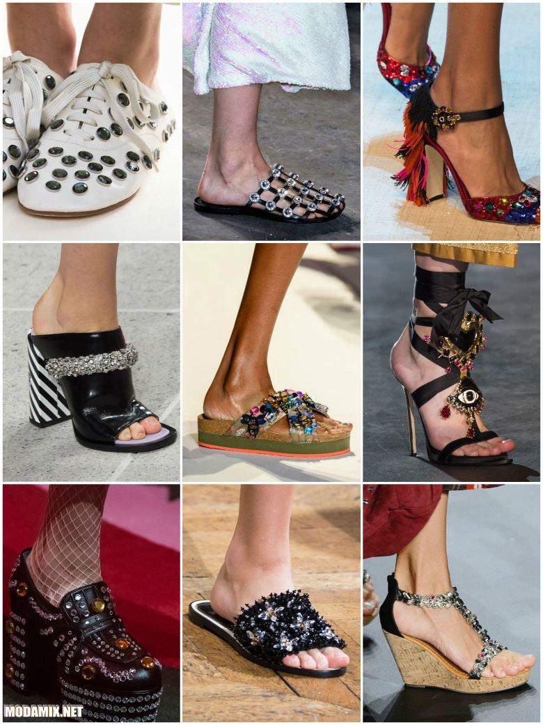 Модная обувь на весну 2017 со стразами
