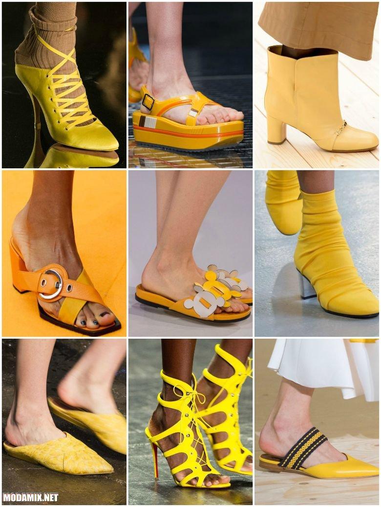 Желтая обувь на весну 2017