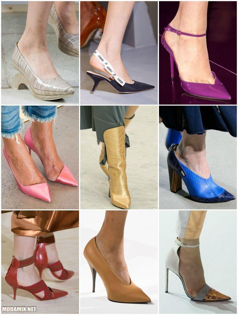 Женская обувь с заостренным носом