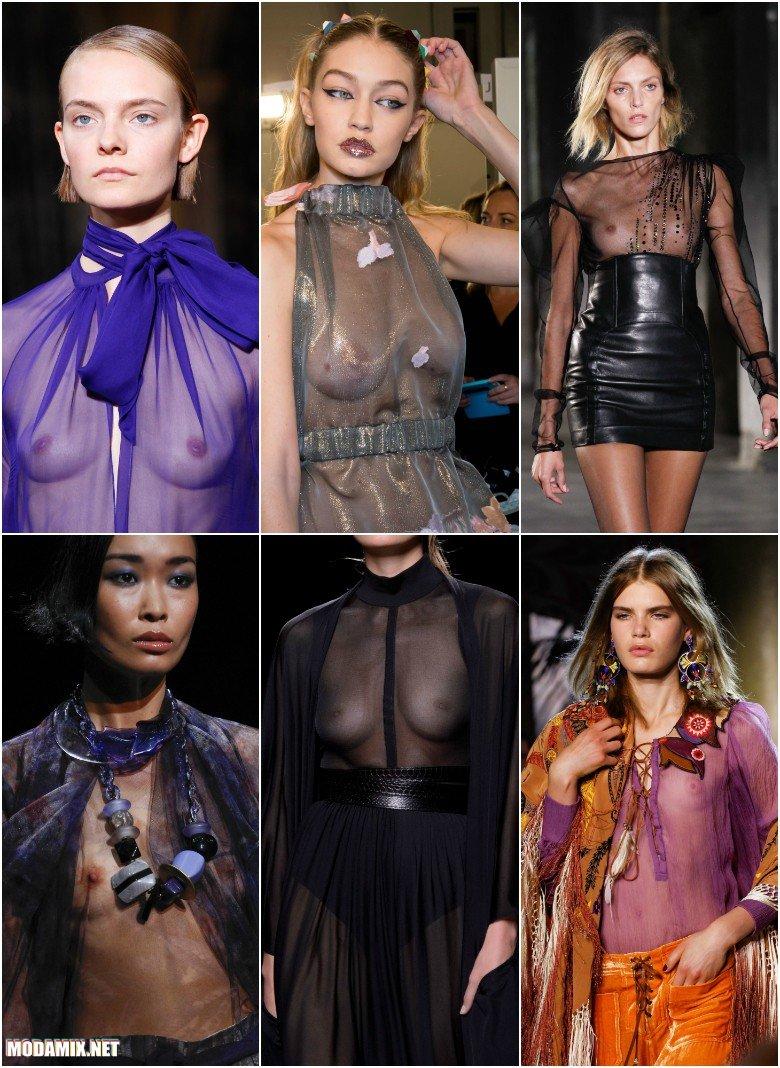 Блузы из прозрачного шифона