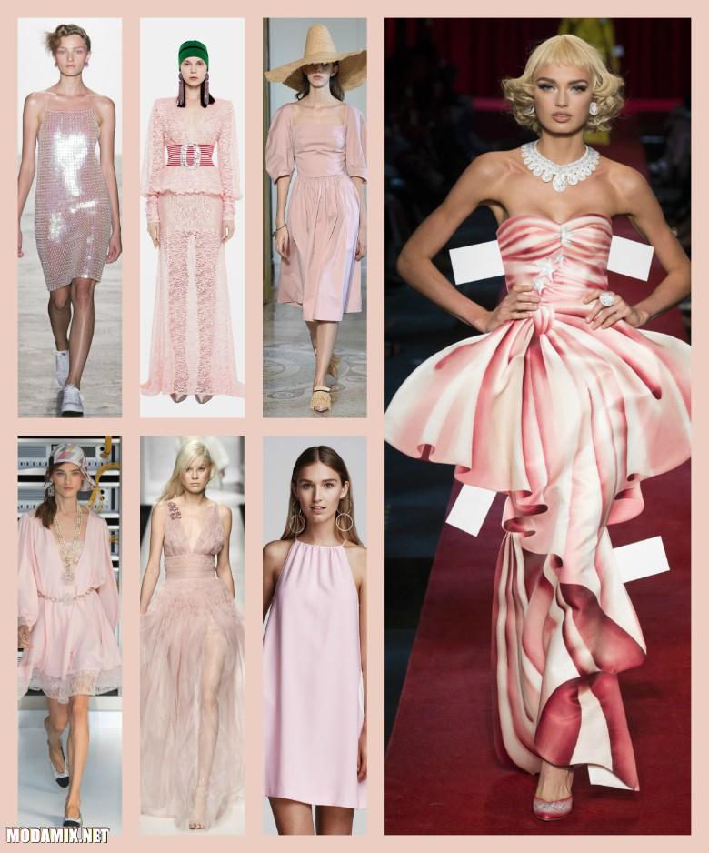 Розовый цвет одежды 2017 года