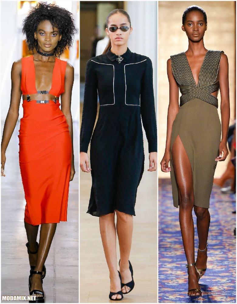 Весенние платья длиной до колена