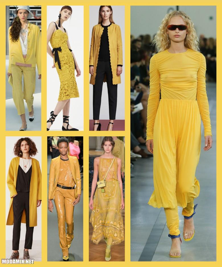 Цвет Primrose Yellow в женской одежде 2017 года