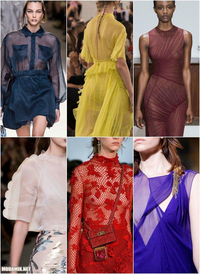 Прозрачные разноцветные ткани