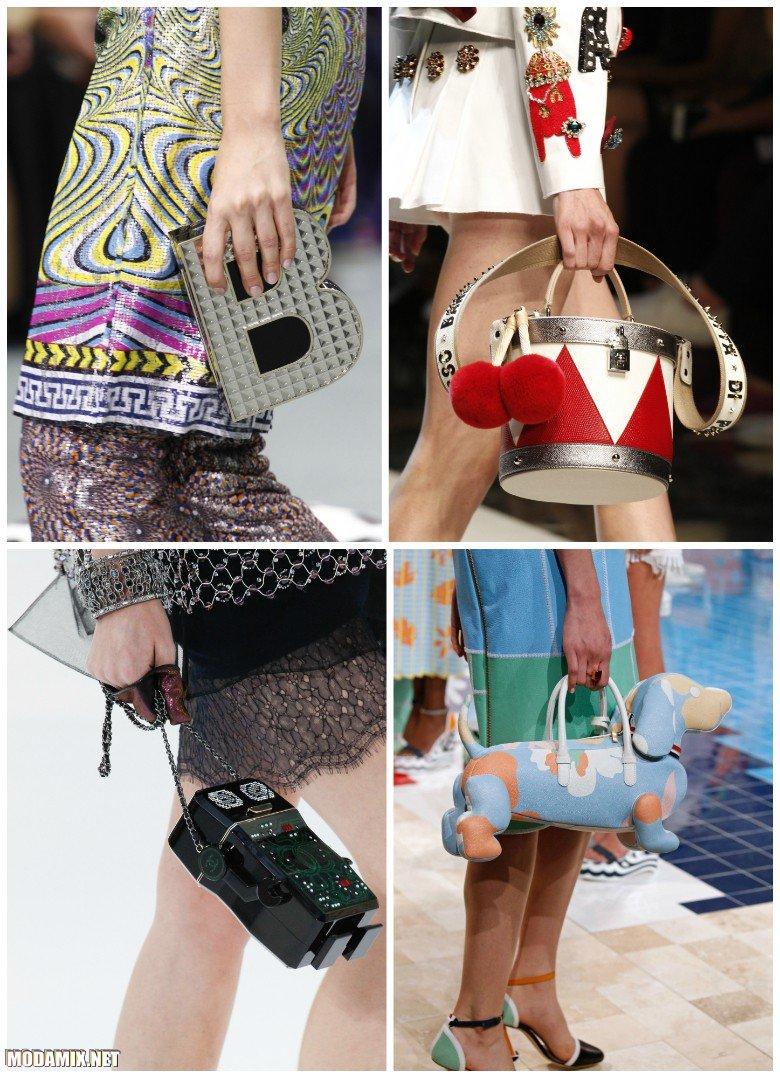 Модные фигурные сумки 2017