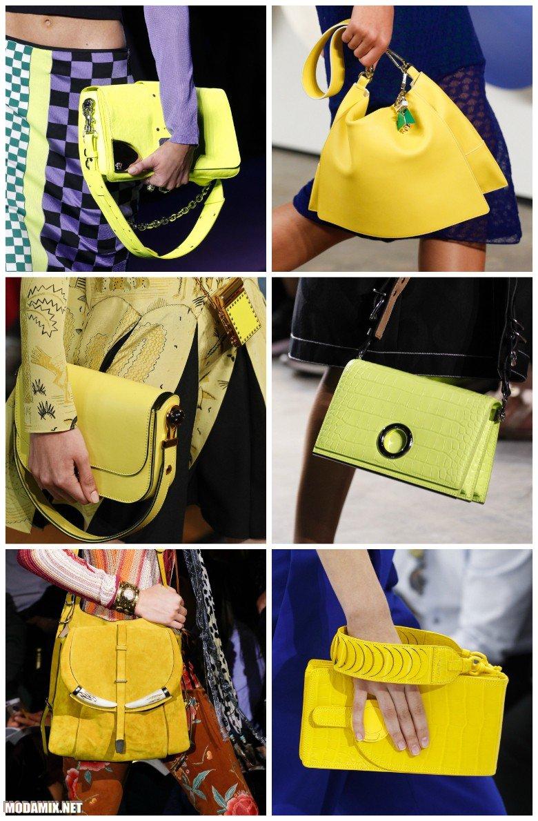 Модные желтые сумки на весну 2017