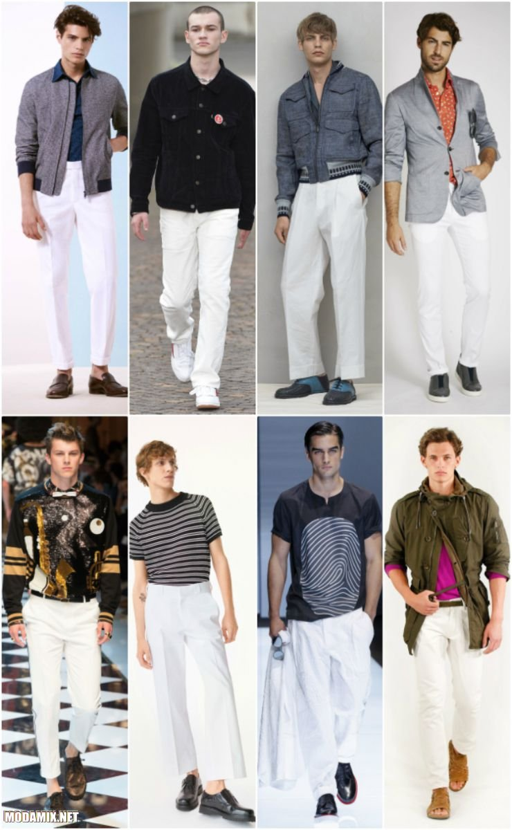Мужские брюки белого цвета