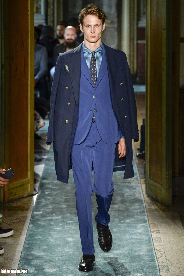 Модные двубортные пальто для мужчин 2017 года