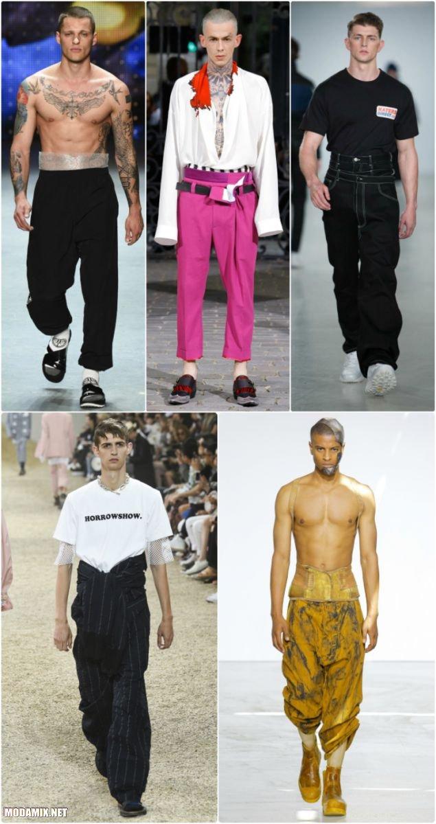 Фасон мужских брюк с завышенной талией