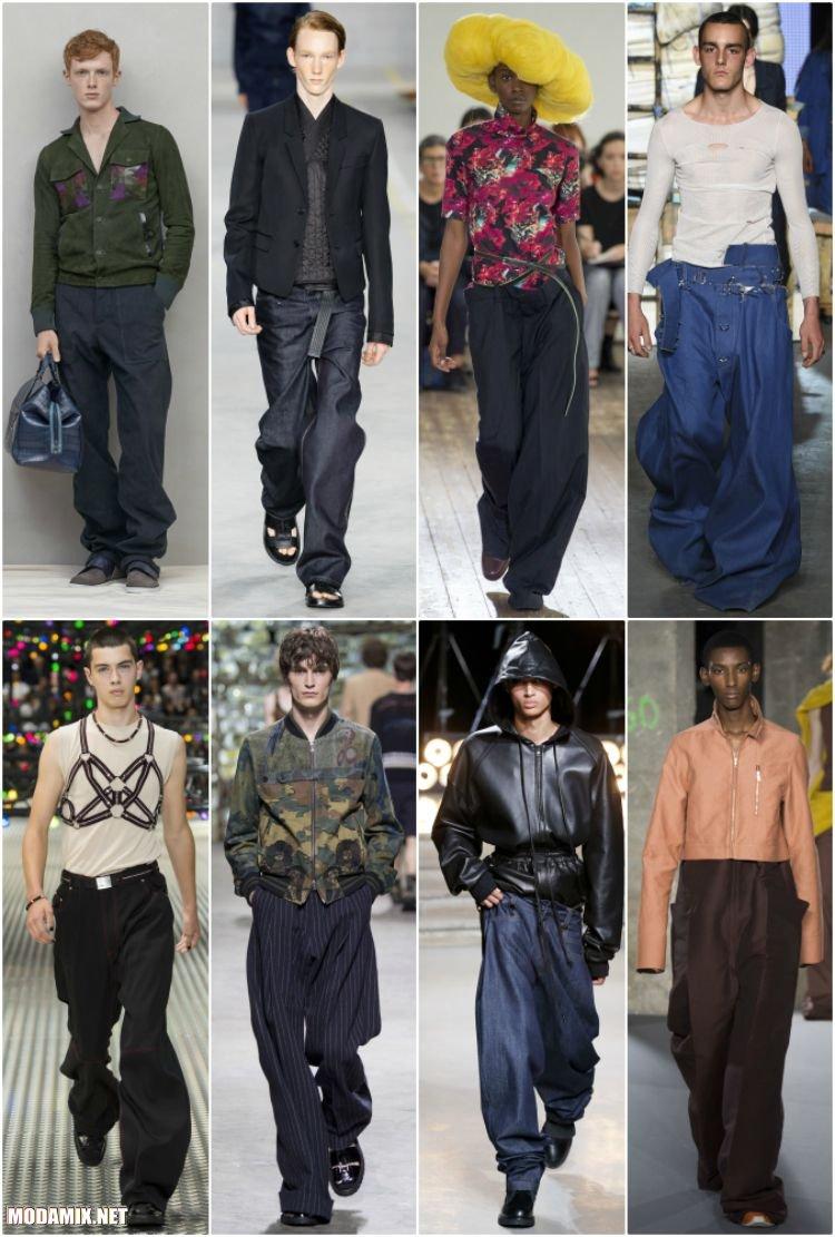 Широкие и удлиненные фасоны мужских брюк