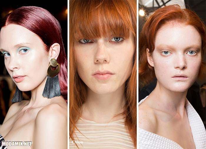 Модный цвет волос 2017 - рыжий