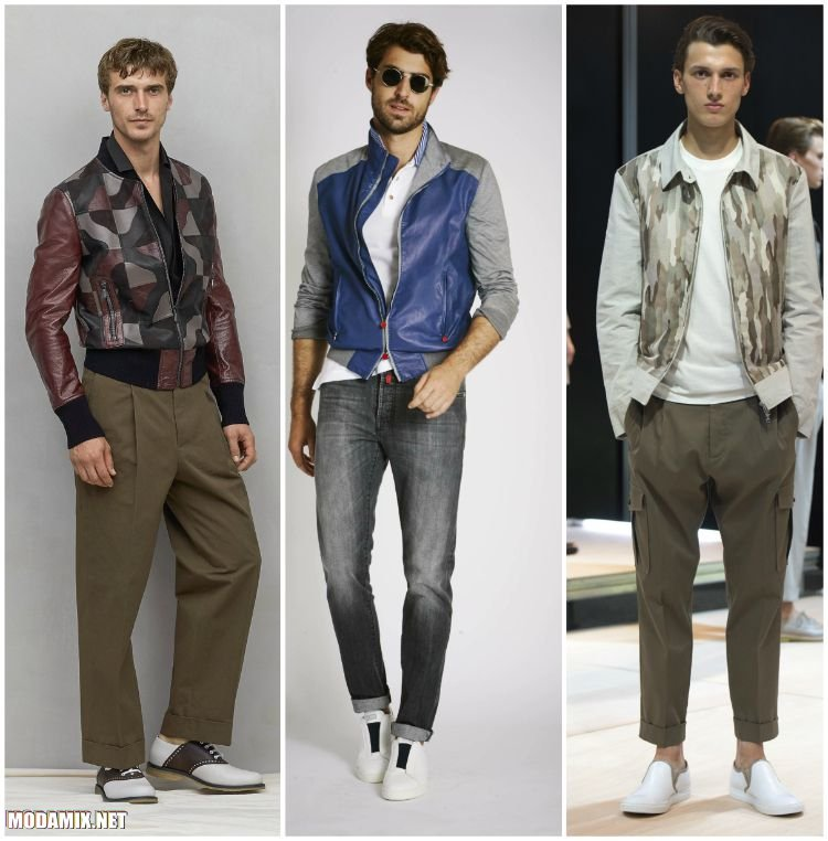 Куртки с комбинациями различных материалов