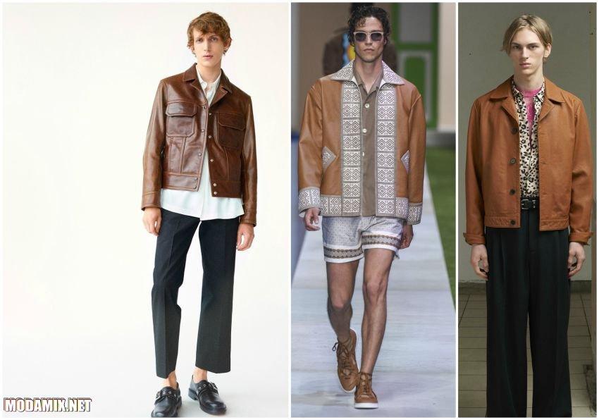 Кожаные куртки на пуговицах