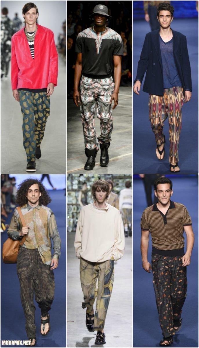 Мужские брюки с абстрактным принтом - коллекции 2017