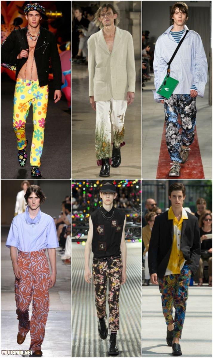 Мужские брюки с цветочным принтом