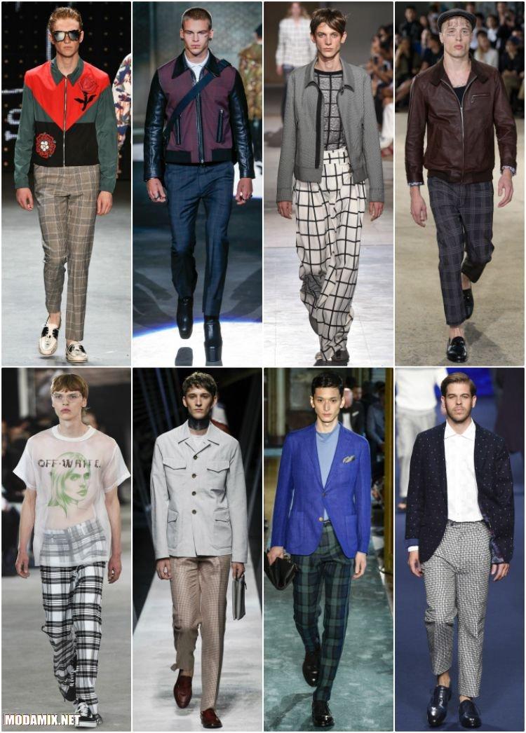 Клетчатые брюки для мужчин