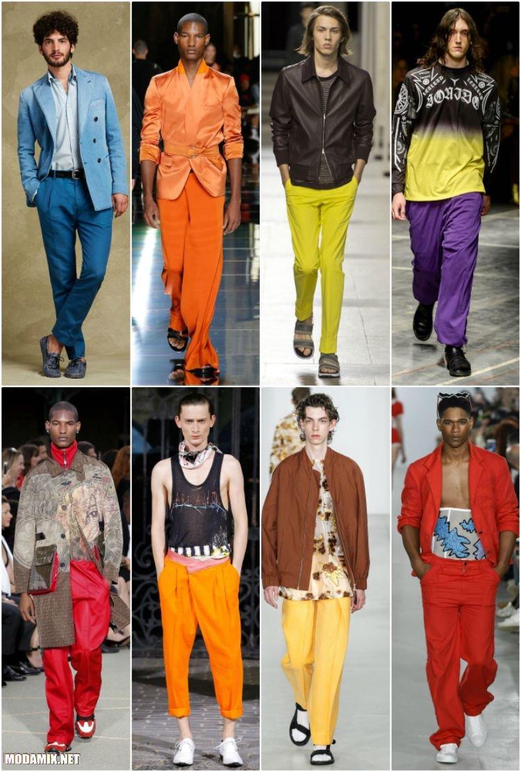 Мужские брюки разных цветов