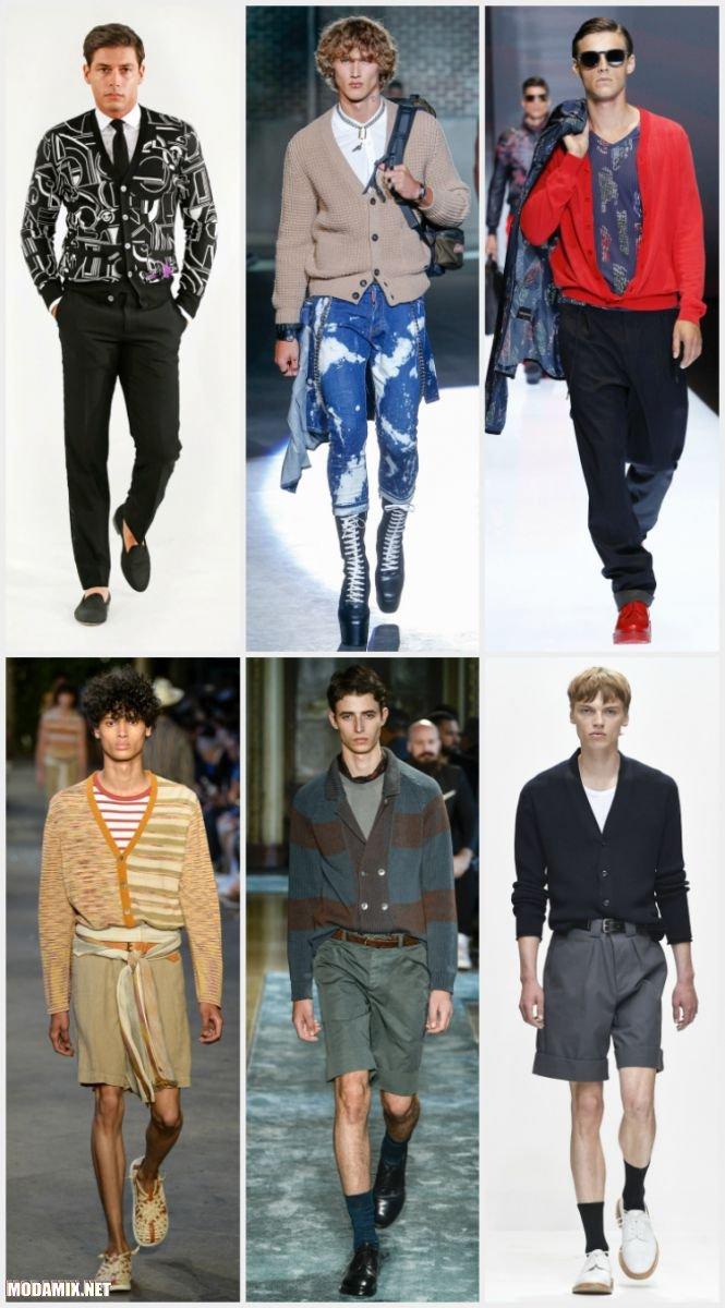 Модные мужские кардиганы 2017
