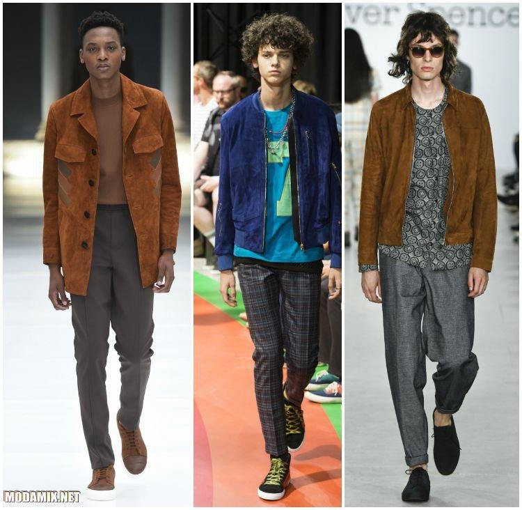 Мужские куртки из замши