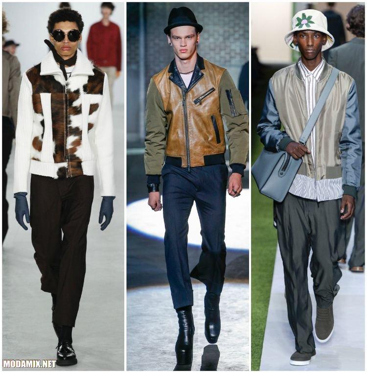 Мужские куртки с контрастными вставками