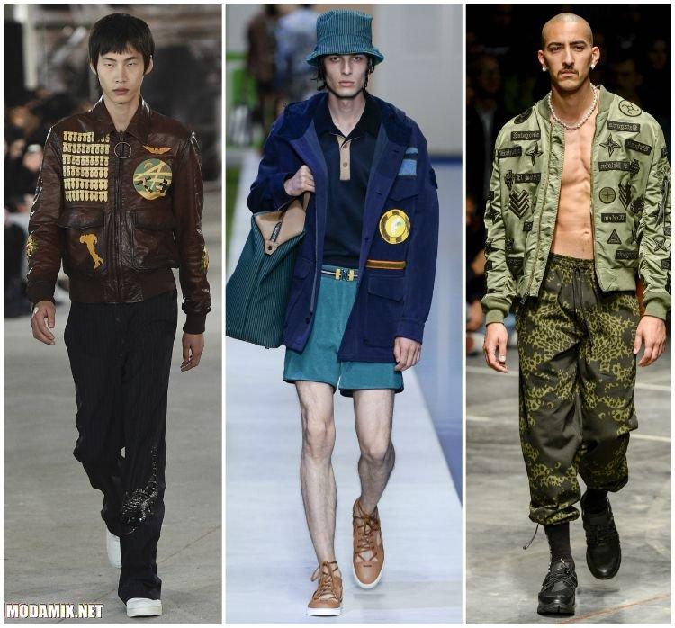 Мужские куртки с нашивками