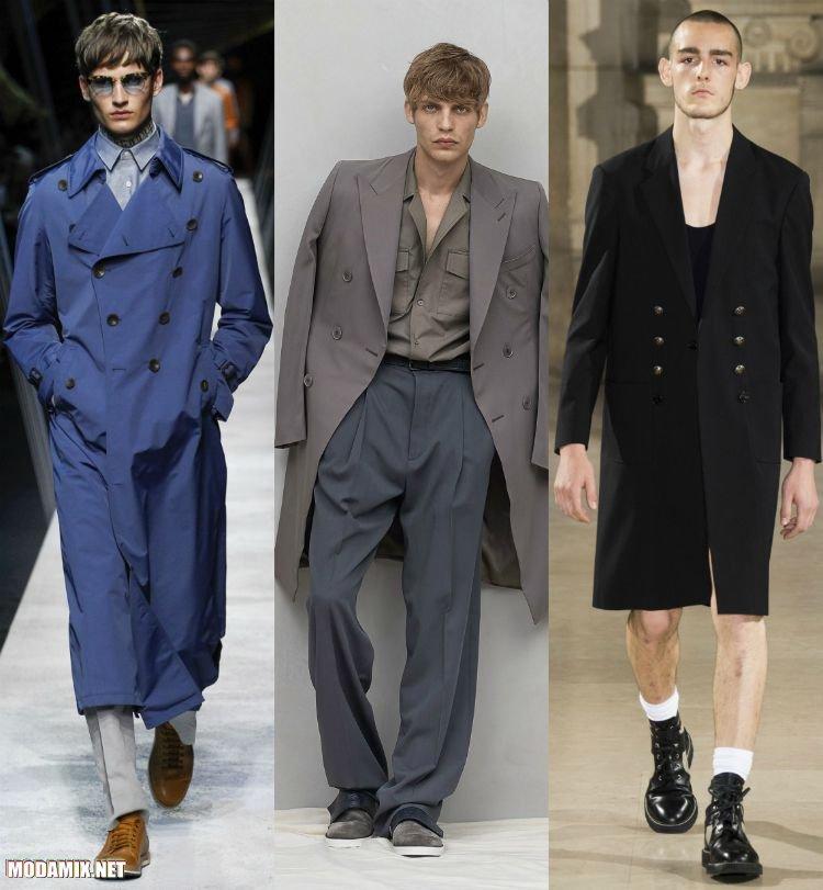 Двубортное пальто для мужчин из весенних коллекций