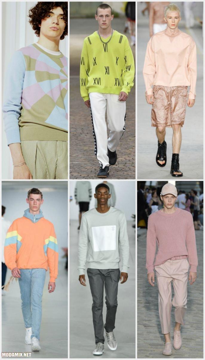 Пастельные оттенки свитеров для мужчин из коллекций 2017 года