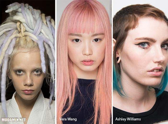 Пастельный оттенок волос 2017 года