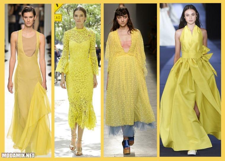 модные цвета платьев 2017