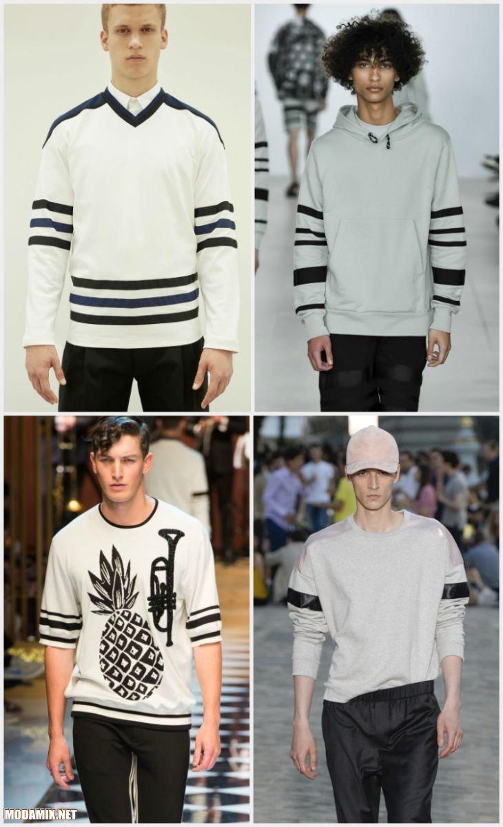 Фото мужских свитеров с полосками на рукавах