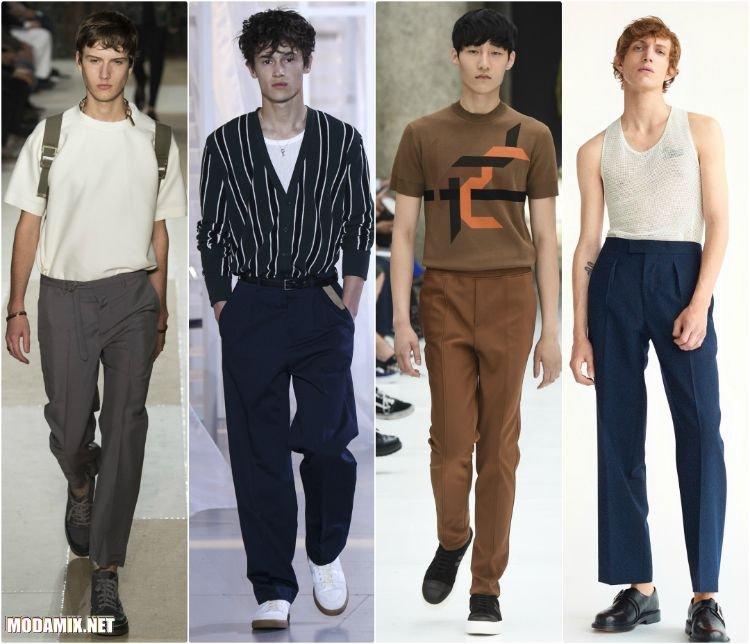 Прямые мужские брюки 2017 года