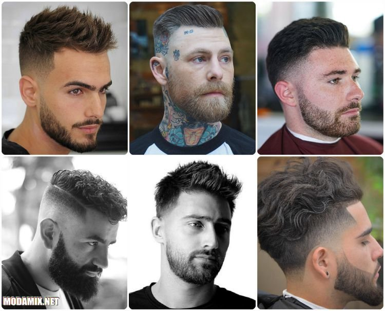 Стрижка на мужчине с бородой - 2017 год