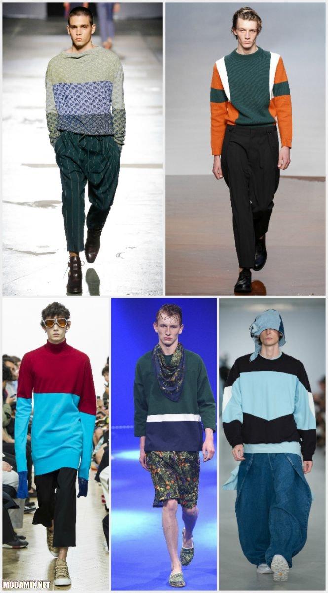 Разноцветные мужские свитера 2017 года
