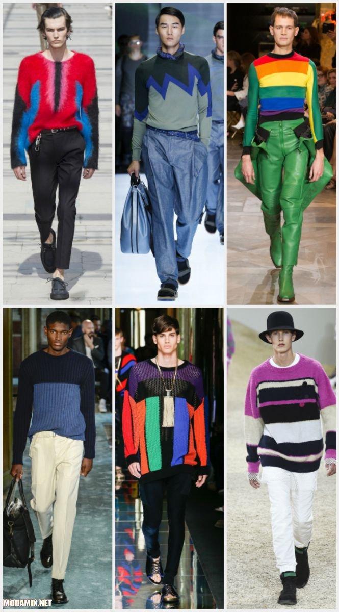 Мужские свитера в стиле колорблокинг