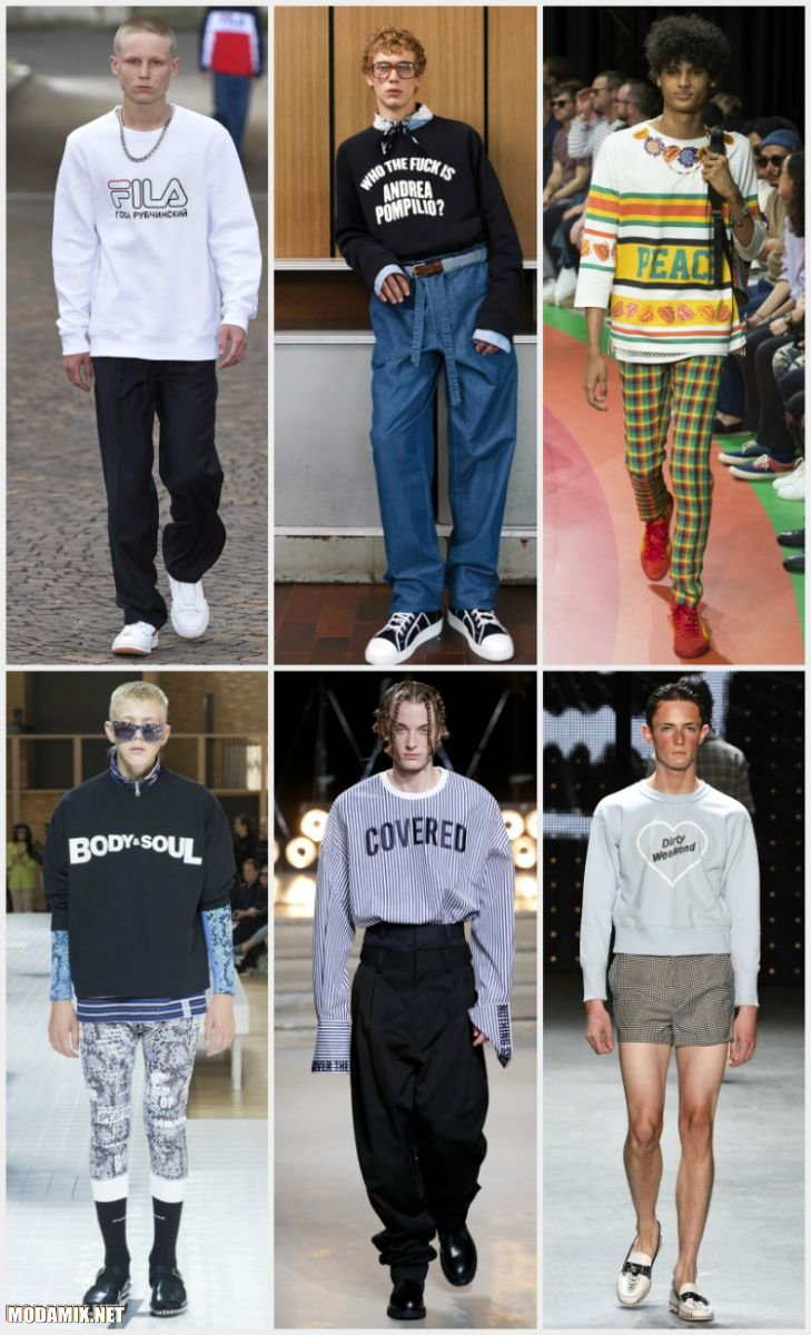 Мужские свитера с логотипами и словами